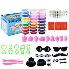 24 Colors DIY Slime Clay Super Light Modeling <b>Set Kids Toys</b> Soft ...