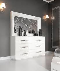 carmen white double dresser and mirror bedroom furniture modern white design