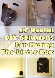 for cat lovers 27 useful diy solutions for hiding the litter box cat litter box furniture diy