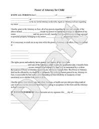 Power of Attorney for Child   POA for Minor Form   Rocket Lawyer