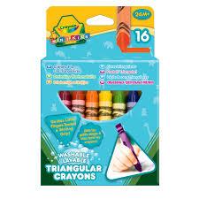 Купить <b>восковые мелки</b> Crayola <b>смываемые</b> треугольные 16 шт в ...