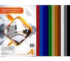 купить <b>обложку для переплета BULROS</b> картон-кожа А4, белая ...