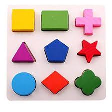 Ikevan Kids Baby Wooden Geometry Building Blocks ... - Amazon.com