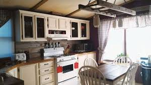 mobile home gets rustic farmhouse kitchen makeover artist creates mobile homes
