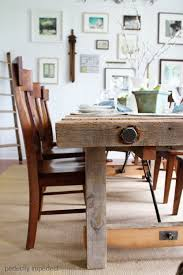 pottery barn style dining table:  images about farm tables on pinterest pedestal farmhouse bench and ana white