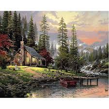 <b>Painting</b> By Numbers <b>DIY</b> Dropshipping 50x65 60x75cm Sunset ...