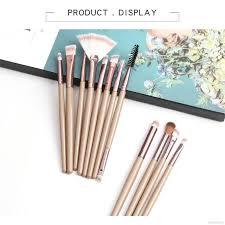 12pcs lot makeup brushes set professional eyeshadow brush eye shadow blending eyeliner eyelash eyebrow for make up