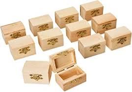 Unfinished Wooden Treasure Chest (2.3 x 1.5 x 1.5 ... - Amazon.com