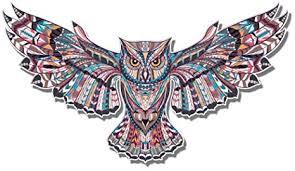 GT Graphics Owl Ethnic Pattern Mandala Tangle Style ... - Amazon.com
