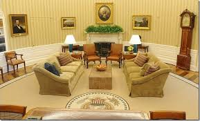 after obamas office another photograph showing the office in the gold and caramel tone here the rug looks warmer and it appears to match well barak obama oval office golds