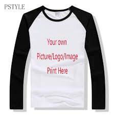 <b>PSTYLE</b> Raglan tshirt Long Sleeve <b>T Shirts</b> Men <b>Custom T shirt</b> Own ...