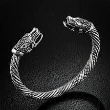 US Viking Wolf <b>Bracelet</b> For <b>Pirate</b> Men <b>Bracelet Wristband</b> Cuff ...