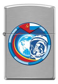 <b>Зажигалка Гагарин</b> (серебристая, матовая) от <b>Zippo</b> купить в ...