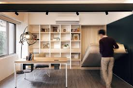 small home with smart use of space taiwan bed in office