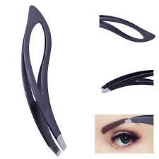 Fashion Household <b>1pcs Black</b> Eyebrow Tweezers <b>Stainless Steel</b> ...