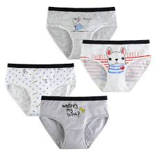 Ready Stock   4pcs Girls <b>Underwear</b> Cotton <b>Children</b> Boxers Briefs ...
