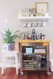 coffee station the inspired room blog seattle townhouse update unique diy coffee station