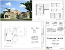 House Plans In AutoCAD DWG And PDF   housecabinh Cottage DWG House Plans