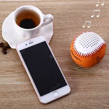 BL001 Bluetooth Speakers Orange Baseball Shape Speakers Sale ...