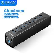 <b>ORICO</b> A3H Series Aluminum High Speed <b>4/7</b>/10 <b>Port</b> USB 3.0 HUB ...