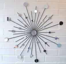 mirror wall decor circle panel:  inch modern metal wall art mirror mod style by inspiringu