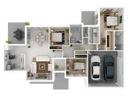 "Three "" "" Bedroom Apartment House Plans   Architecture  amp  Design    bedroom   large garage house plans"
