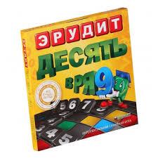 <b>Настольная игра БИПЛАНТ</b> Эрудит Десять в ряд — купить в ...