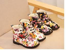 Girls <b>Martin Boots</b> the New <b>2020</b> Children <b>Boots</b> and Velvet Flower ...