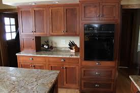 white kitchen dark wood