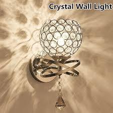 AC 85-250V 50/60Hz E14 <b>Modern Crystal Wall Light</b> Room Lamp ...