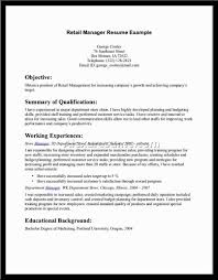 sample resume for retail s