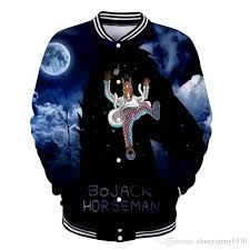 2019 <b>New</b> Design BOJACK HORSEMAN 3D Baseball Jacket Men ...