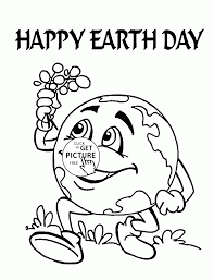 Small Picture Cute Earth Earth Day coloring page for kids coloring pages