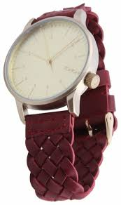 Купить Наручные <b>часы KOMONO Winston</b> Woven Burgundy по ...