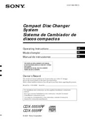 sony cdx 555xrf manuals