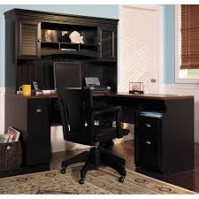 home office furniture cherry finished mahogany l shaped desk combined black throughout home decor stores antique mahogany large home office unit