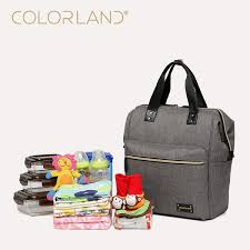 <b>Colorland</b> Diaper <b>Bags</b> Fashion Multi-function Large Capacity ...