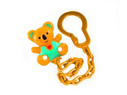 <b>Цепочка Canpol</b> для <b>пустышки</b> оранжевый купить в детском ...