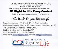 south dakota right to life essay contest
