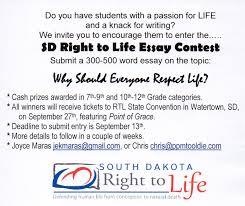 south dakota right to life essay contest