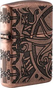 <b>Зажигалка бензиновая</b> Zippo <b>Armor</b>, 49000, с покрытием Antique ...