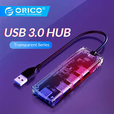 <b>ORICO</b> Transparent <b>USB HUB Multi</b> High Speed USB 3.0 Splitter 4 ...