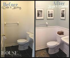 how to paint a small bathroom small bathroom makeover beadboard wallpaper  small bathroom makeover beadboard wallpaper