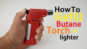 How To <b>Refill Butane Torch Lighter</b> Simple Easy - YouTube