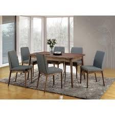 Shop Furniture of America Sevo Mid-century <b>Modern</b> Grey <b>7</b>-<b>piece</b> ...