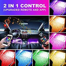 OXILAM Car LED Strip Light, 4pcs 48 LED Multicolor ... - Amazon.com