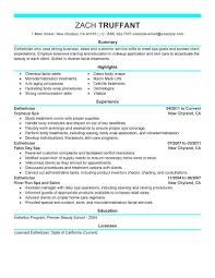 best esthetician resume example livecareer create my resume