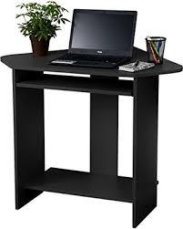 fineboard home office compact corner desk black black desks for home office