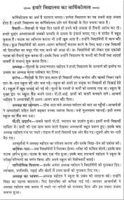 short essay on the ldquo annual function of our school rdquo in hindi