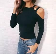 Women <b>Autumn Long Sleeve</b> Off Shoulder Pullovers Blouse Ladies ...